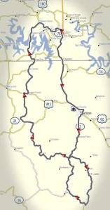 Route of Saturday Ride