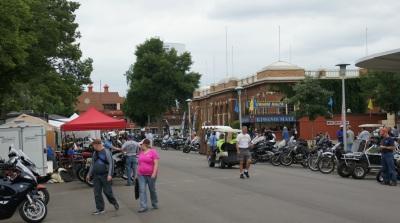 Rally street scene